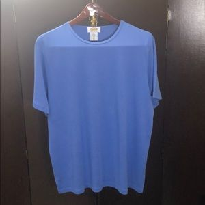 Talbots short sleeve cotton tee. Size X blue